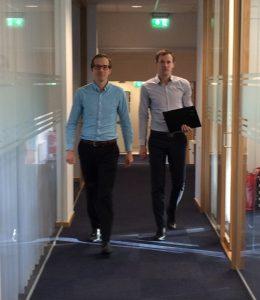 Sebastian Warrebäck, kontorschef och Magnus Pettersson. revisor.